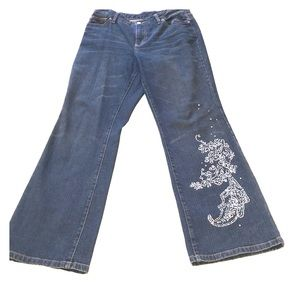 Limited boot cut jeans with sequins appliqué